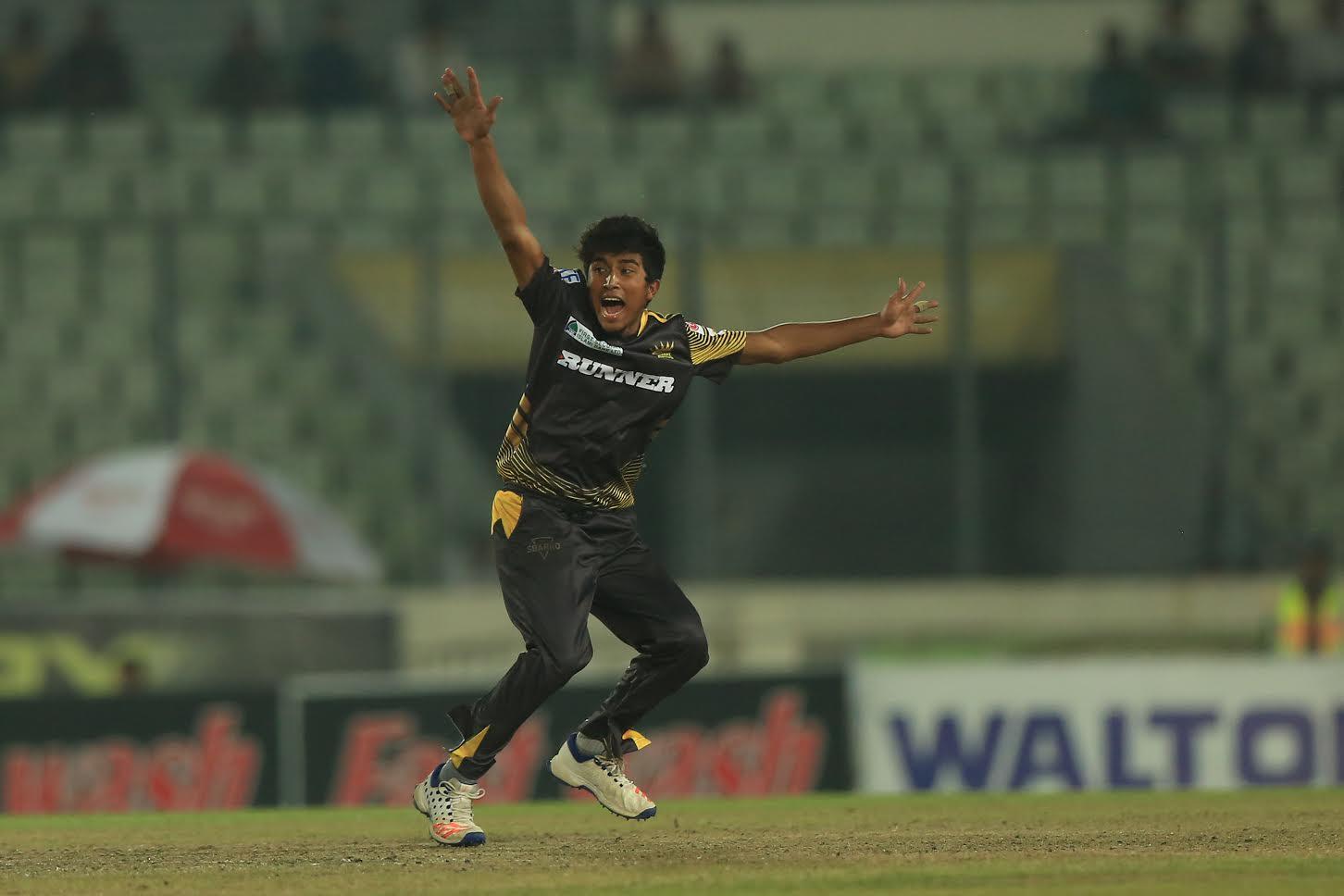 Afif Hossain Dhrubo wicket