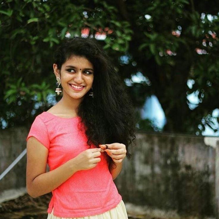 Priya Prakash Varrier Hairstyle