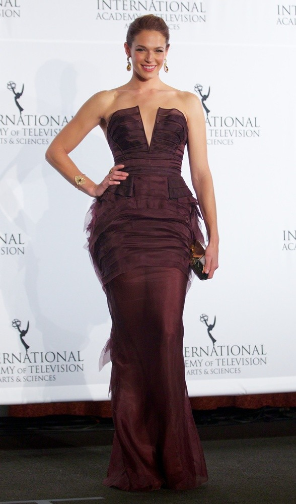 The International Academy of Television Arts & Sciences presents the International Emmy® Awards Gala at the Hilton Hotel in New York City  Featuring: Amanda Righetti Where: New York City, New York, United States When: 25 Nov 2013 Credit: Alberto Reyes/WENN.com