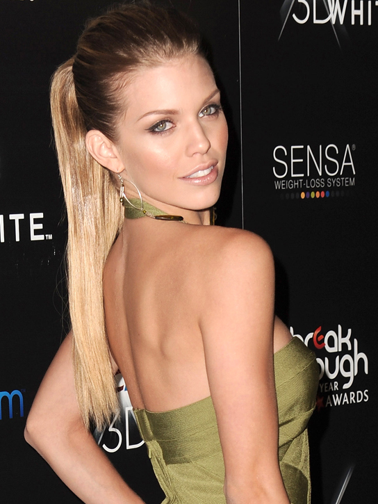 Actress AnnaLynne McCord arrives at the 2010 Breakthrough Of The Year Awards at Pacific Design Center on August 15, 2010 in West Hollywood, California.