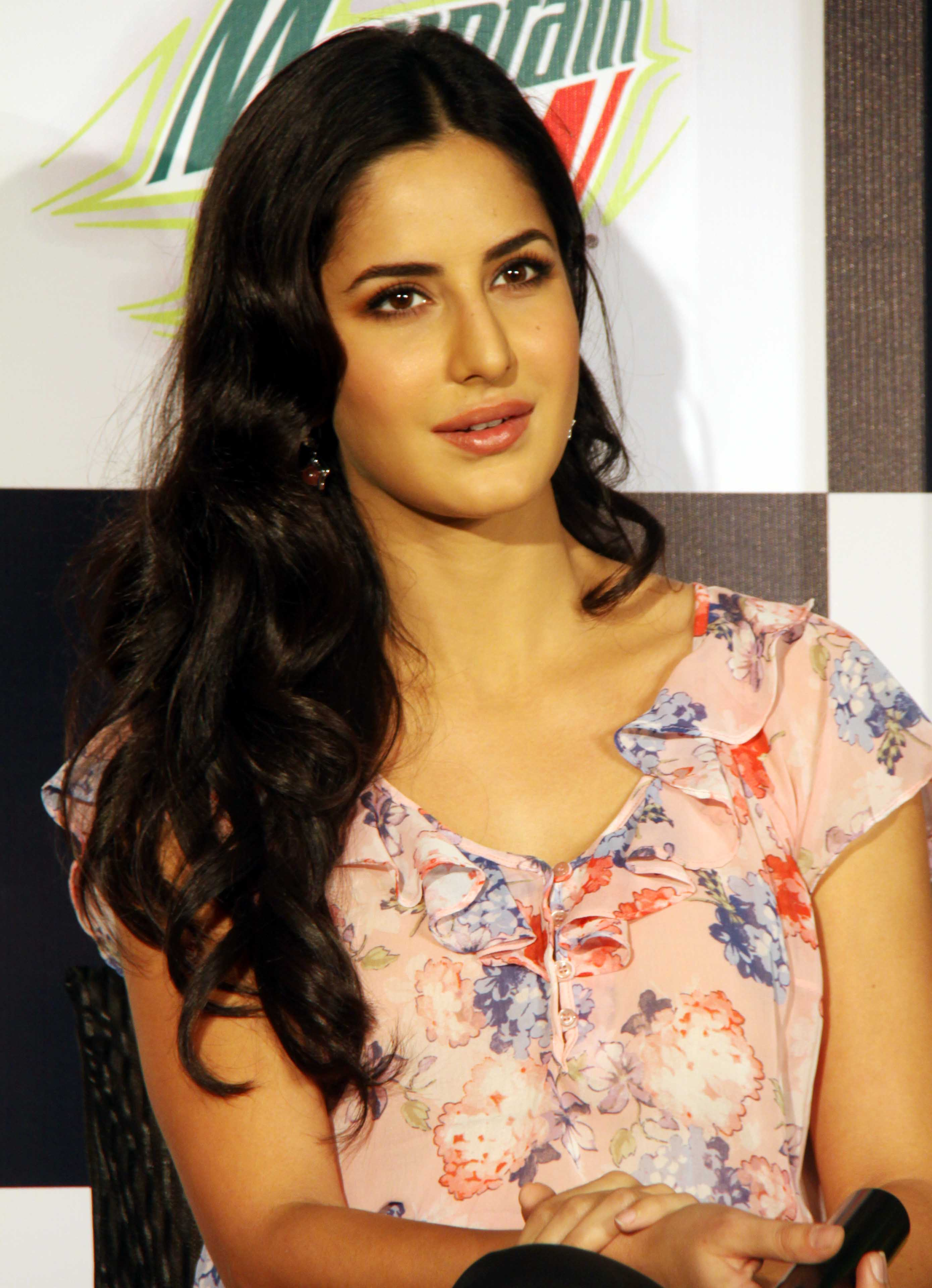 LUCKNOW JULY 06 : Film actress Katrina Kaif  addressing a Press conference for promotion of her incoming release