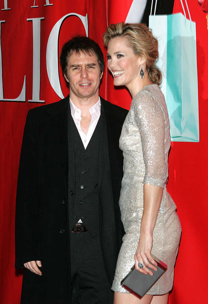 Leslie Bibb with guest attends the premiere of