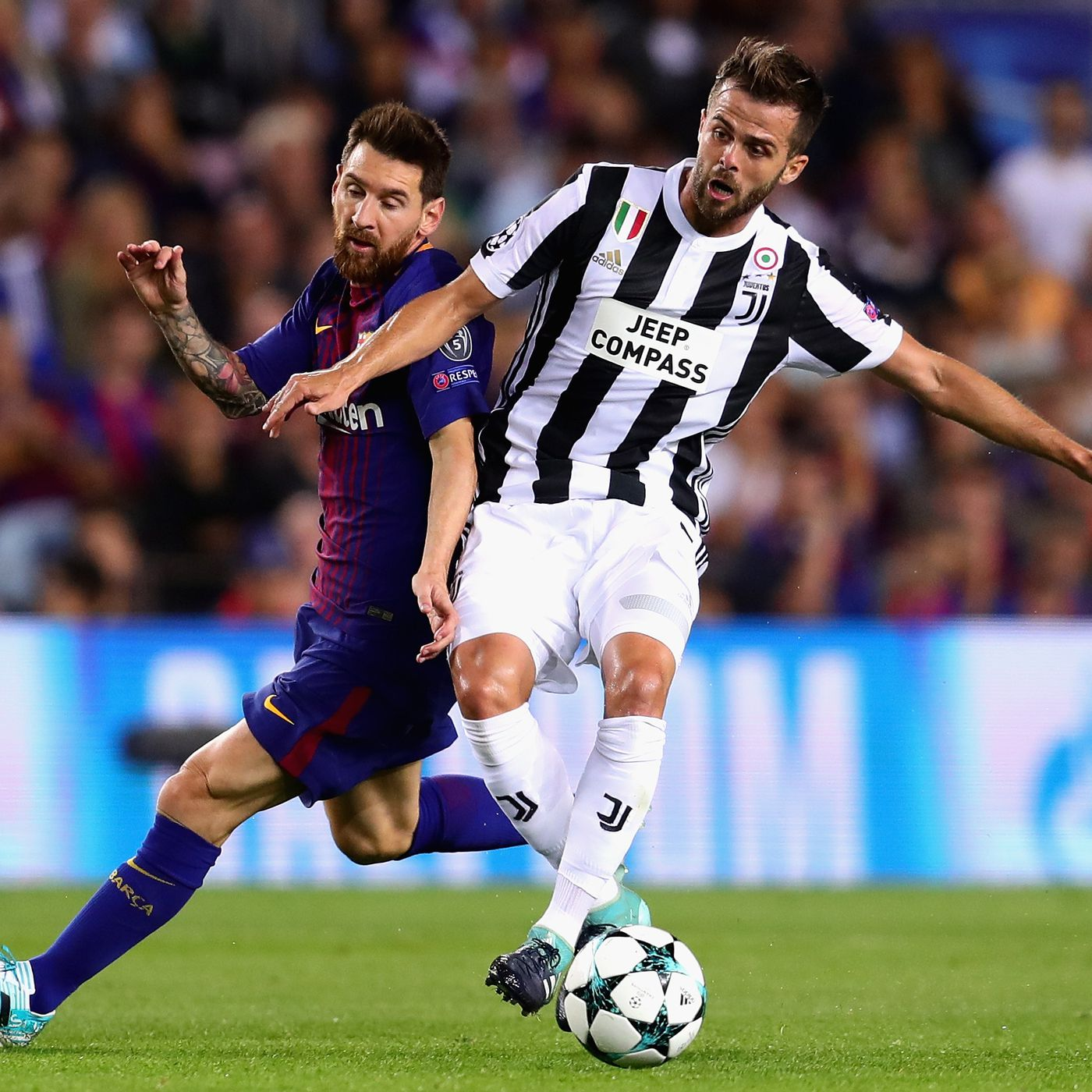 Pjanic-with-Messi