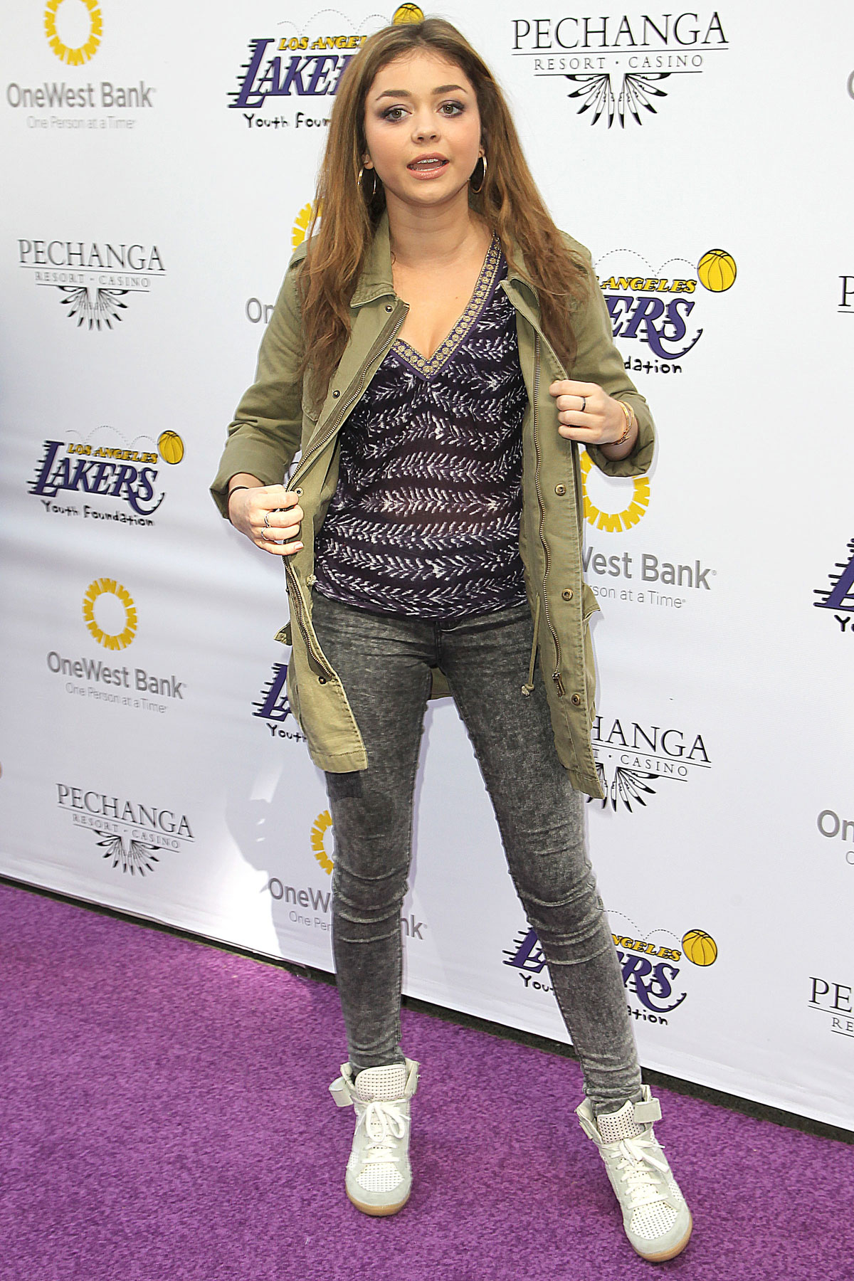 SARAH HYLAND at LA Lakers Casino Night in Los Angeles