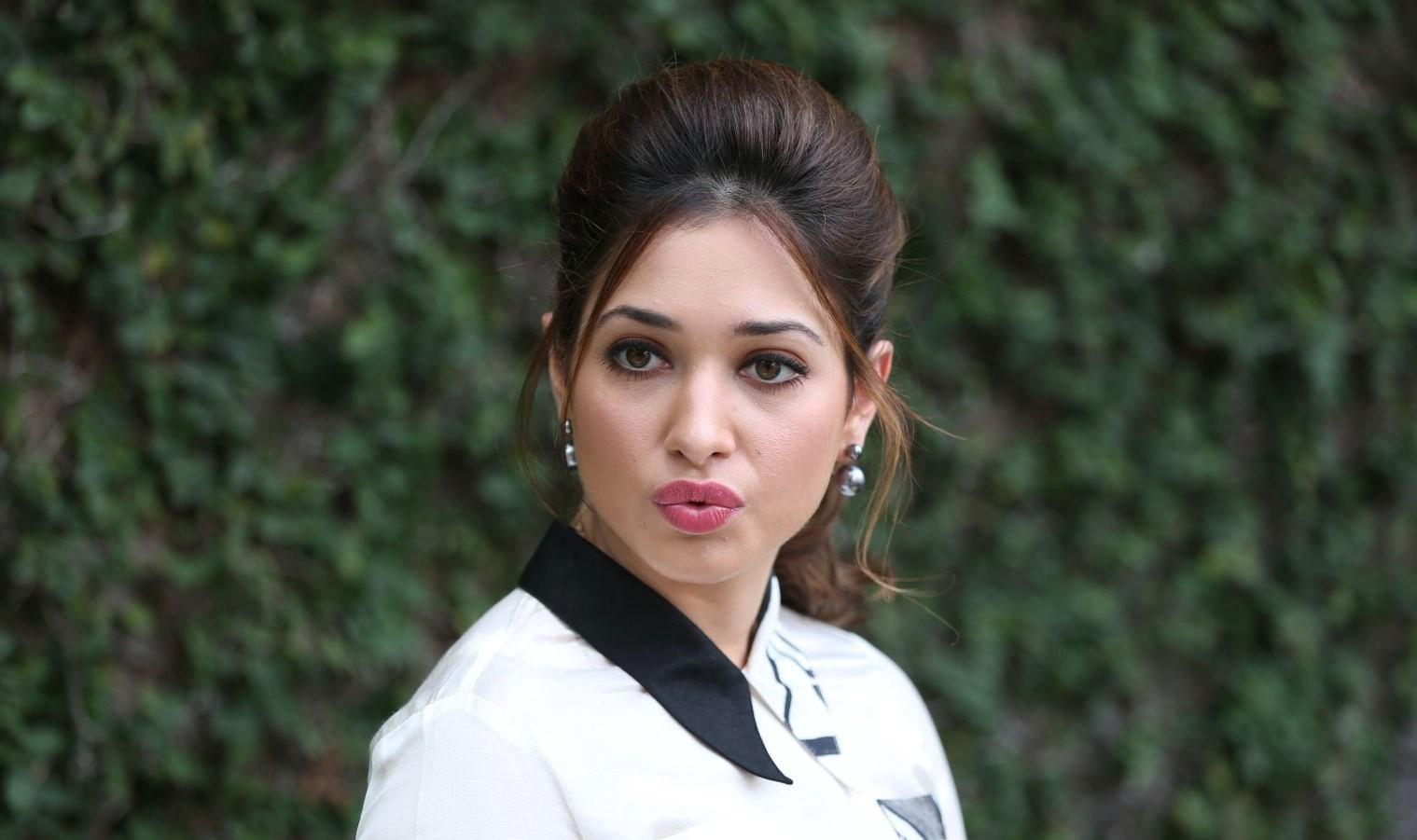 Actress Gorgeous Tamanna Bhatia Cute Photos at Baahubali Promotions